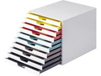 durable VARICOLOR MIX 10 - 7630 763027 Ladebox Wit DIN A4, DIN C4, Folio, Letter Aantal lades: 10
