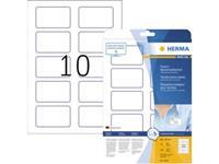 Herma 4410 Etiketten (A4) 80 x 50 mm Acetaatzijde Wit, Blauw 200 stuk(s) Weer verwijderbaar Naametiketten