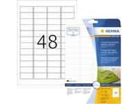 Herma 8016 Etiketten (A4) 45.7 x 21.2 mm Folie, glanzend Transparant 1200 stuk(s) Permanent Folie-etiketten