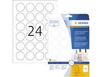 Herma 8023 Etiketten (A4) Ã 40 mm Folie, glanzend Transparant 600 stuk(s) Permanent Folie-etiketten