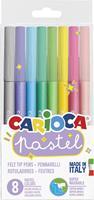 Carioca viltstiften Pastel, 8 stiften in blister