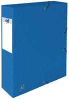 Elba elastobox Oxford Top File+ rug van 6 cm, blauw