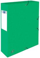 Elba elastobox Oxford Top File+ rug van 6 cm, groen