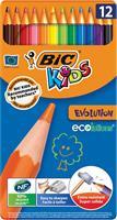 Bic Kids kleurpotlood Ecolutions Evolution, metalen doos van 12 stuks