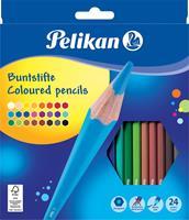 Pelikan kleurpotloden, etui met 24 stuks in geassorteerde kleuren