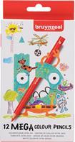 Bruynzeel kleurpotlood Mega, kartonnen etui van 12 stuks