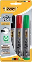 Bic permanent marker 2000, doos met 4 stuks in geassorteerde kleuren