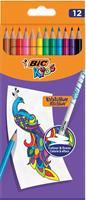 Bic Kids kleurpotlood Illusion Evolution, etui van 12 stuks