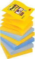 Post-it Super Sticky Z-Notes New York, ft 76 x 76 mm, geassorteerde kleuren, 90 vel, pak van 6 blokken