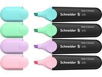 schneider Textmarker Textmarker Job pastell Etui 4 Stück