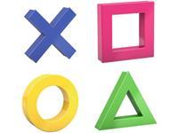 dahle Magneet Set Mega Magnet Mini, je 1 x Kreuz, Kreis, Dreieck, Quadrat, 45 x 45 mm (b x h) 45 mm x 45 mm Diverse kleuren 1 stuk(s) 76-95554-14824