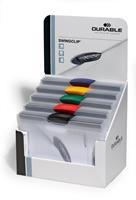 Durable klemmap Swingclip, display met 30 stuks in geassorteerde kleuren