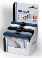 Durable klemmap Duraclip Original 30, display met 50 stuks in geassorteerde kleuren