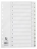 Q-Connect tabbladen set 1-12, met indexblad, ft A4, wit