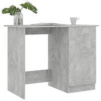 vidaXL Bureau 100x50x76 cm spaanplaat betongrijs