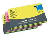 Info Notes 125x75mm assorti brilliant pak a 6 blok