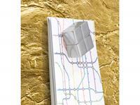 glasmagneetbord Sigel Artverum 910x460x15mm goud metallic
