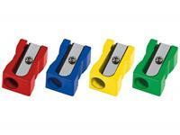 Westcott puntenslijper  kunststof enkel blokvorm gekleurd
