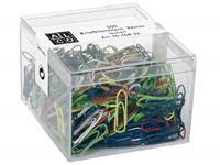 Alco paperclips  26mm hoekig 500 stuks in doos assorti