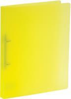 Bronyl ringmap, voor ft A4, uit PP, 2 D-ringen van 15 mm, transparant geel