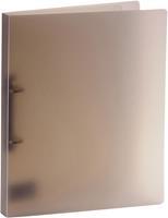Bronyl ringmap, voor ft A4, uit PP, 2 D-ringen van 15 mm, transparant grijs