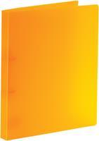 Bronyl ringmap, voor ft A4, uit PP, 2 D-ringen van 15 mm, transparant oranje