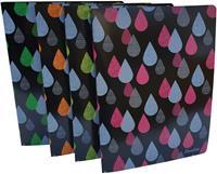 Bronyl ringmap Drops, voor ft A4, uit PP, ringen van 16 mm, geassorteerde kleuren