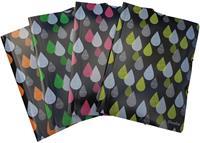 Bronyl elastomap Drops, voor ft A4, uit PP, geassorteerde kleuren