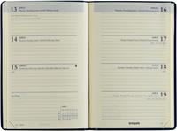 Brepols agenda Delta Seta 6-talig, 2021, blauw