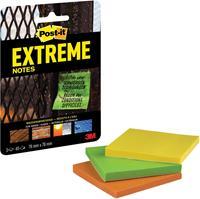 Post-it Extreme Notes, ft 76 x 76 mm, 3 blokken van 45 blaadjes, geassorteerde kleuren