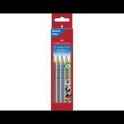 Faber-Castell Buntstift Jumbo Grip Metallic 5er Etui