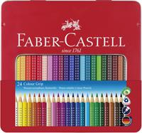 Faber-Castell - Colour Grip, Coloured Pencil, Tin of 24 (112423)