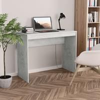 vidaXL Bureau 90x40x72 cm spaanplaat betongrijs