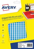 Avery PET08B ronde markeringsetiketten, diameter 8 mm, bliser van 2940 stuks, blauw