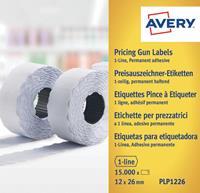 Avery YPLP1226 etiketten voor prijstang permanent, ft 12 x 26 mm, 15 000 etiketten, geel