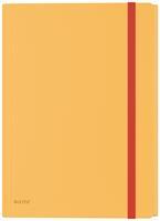 Leitz Cosy elastomap met 3 kleppen, met opbergvak met drukknoppsluiting, uit PP, ft A4, geel