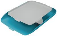 Leitz Cosy brievenbakje met desk organiser, blauw