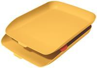 Leitz Cosy brievenbakje, geel, set van 2 stuks