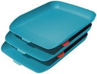 Leitz Cosy brievenbakje, blauw, set van 3 stuks