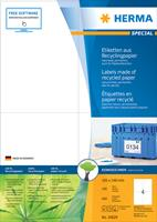 herma Recycling Etiketten 10820 Wit Rechthoekig 38 x 21 mm 100 Vellen Etiketten