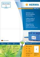 herma Recycling Etiketten 10827 Wit Rechthoekig 99,1 x 67,7 mm 100 Vellen van 8 Etiketten