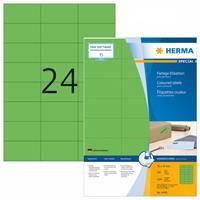 herma Multifunctionele Etiketten SuperPrint Groen Rechthoekig 2400 Etiketten per pak