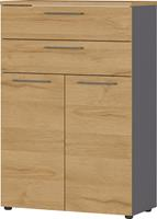 germania Kast Agenda HOME laden Grafiet, Eik 800 x 400 x 1.2 mm