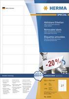 herma Verwijderbare Etiketten Wit Rechthoekig 200 Etiketten per pak
