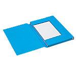 jalema Dossiermap Secolor Foolscap Blauw Karton 3 kleppen 35,5 x 24 cm