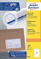 AVERY Zweckform Adresetiketten & Verzendetiketten 3679 Ultragrip A4 Wit 97 x 55 mm 100 Vellen à 10 Etiketten