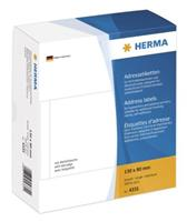 herma Adresetiketten 4331 Transparant 130 x 80 mm 500 Vellen à Etiketten
