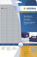 herma Zilver Folie Etiketten 4097 Rechthoekig A4 45,7 x 21,2 mm 25 Vellen van 48 Etiketten
