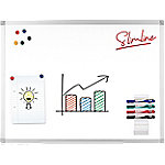 officedepot Office Depot Wandmontage Magnetisch Whiteboard Emaille Slimline 90 x 60 cm