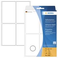 herma Multifunctionele Etiketten 2490 Wit Rechthoekig 128 Etiketten per pak